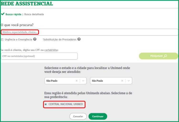 lista de nutricionista Unimed catalao